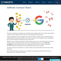 Upload Email Using Google AdWords Customer Match Campaign