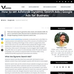 How to set AdWords Dynamic Search Ads