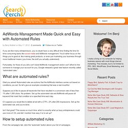 AdWords Management Made Quick and Easy with Automated Rules