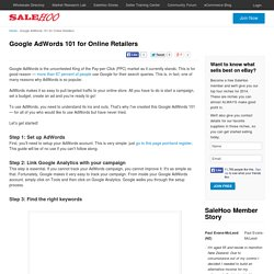 Google AdWords 101 for Online Retailers