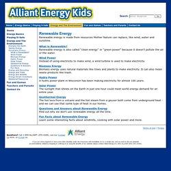AE Kids : Renewable Energy