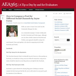 A Tip-a-Day by and for Evaluators - AEA365