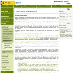 AESAN_MSSSI_GOV_ES - Animal welfare in slaughterhouses.