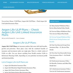 Aegon Life ULIP Plans - Review Benefits and Features