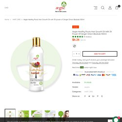 Get Ginger Oil For Hair Growth