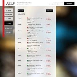 AELF > Calendrier liturgique - JUIN 2017