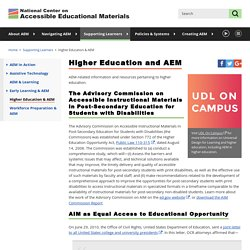AEM: Higher Education and AEM