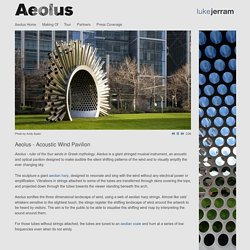 Aeolus - Acoustic Wind Pavilion