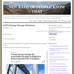 AEP's Energy Storage Delusions