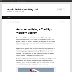 Aerial Advertising – The High Visibility Medium