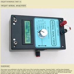 Aerial Analyser Details