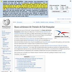 Bases aériennes de l'Armée de l'air française