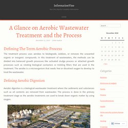 A Glance on Aerobic Wastewater Treatment and the Process