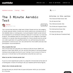 The 3 Minute Aerobic Test – Wattbike Australia