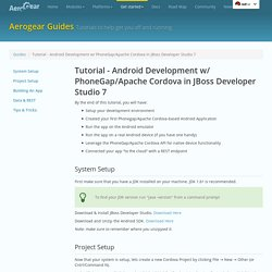 AeroGear - Tutorial - Android Development w/ PhoneGap/Apache Cordova in JBoss Developer Studio 7