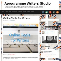 Aerogramme Writers' StudioOnline Tools for Writers