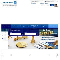 Copa Airlines-Vuelos directos a Sudamérica, Centro América y el Caribe