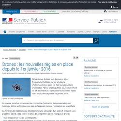 Aéromodélisme -Drones: les nouvelles règles en place depuis le 1erjanvier2016