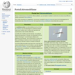 Portail:Aéromodélisme