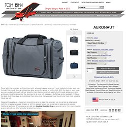 Aeronaut 45 - Maximum Carry-On Travel Bag. Converts to a backpack. One Bag travel.