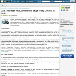 Aim to fly high with Aeronautical Engineering Courses in India