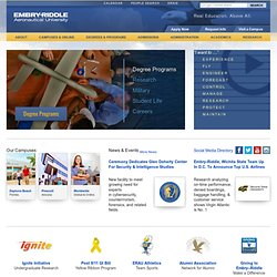 Embry-Riddle Aeronautical University - World's Leader in Aviation and Aerospace Education