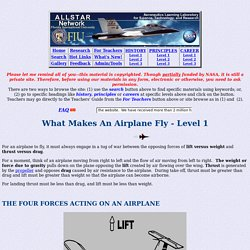 Aeronautics - What Makes An Airplane Fly - Level 1