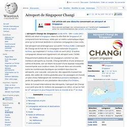 Aéroport de Singapour Changi