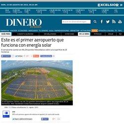 Este es el primer aeropuerto que funciona con energía solar