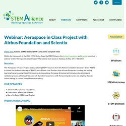 Webinar: Aerospace in Class Project with Airbus Foundation and Scientix