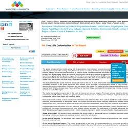 Aerospace Foams Market by Type, End-User Industry & Region
