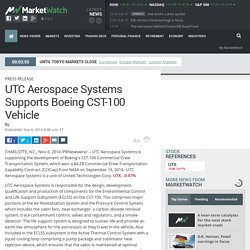 UTC Aerospace Systems Supports Boeing CST-100 Vehicle
