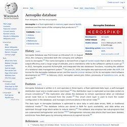 Aerospike database