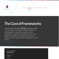 The Cost of Frameworks