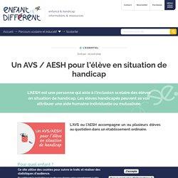 Un AVS / AESH pour l'élève en situation de handicap