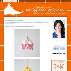 Aesthetic Oiseau: Origami Lamp Shades