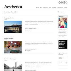 Aesthetica : art & design