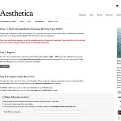 Aesthetica Magazine - Creative Writing Award - Enter