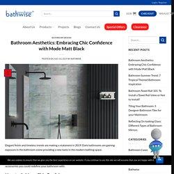 Bathroom Aesthetics: Embracing Chic Confidence with Mode Matt Black