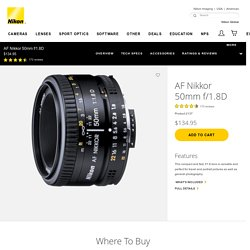AF NIKKOR 50mm f/1.8D from Nikon