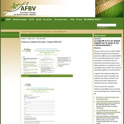 AFBV: Biotechnologie végétale