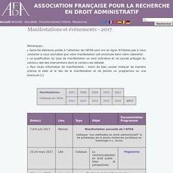 AFDA -Manifestations et évènements - 2017