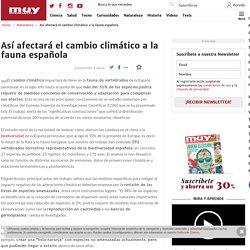 Así afectará el cambio climático a la fauna española