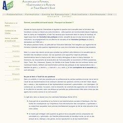 Publications, Genre, sexualité et travail social