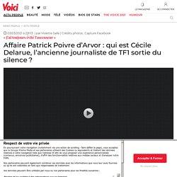 Affaire Patrick Poivre d'Arvor: qui est Cécile Delarue, l'ancienne journaliste de TF1 sortie du silence?