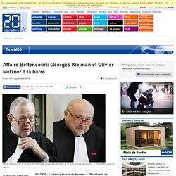 Affaire Bettencourt: Georges Kiejman et Olivier Metzner à la barre