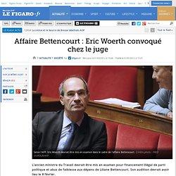 France : Affaire Bettencourt : Eric Woerth convoqué chez le juge