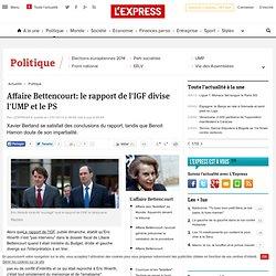 Affaire Bettencourt: le rapport de l'IGF divise l'UMP et le PS