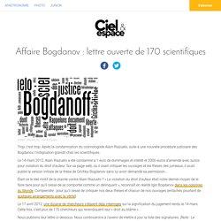 Affaire Bogdanov: lettre ouverte de 170scientifiques