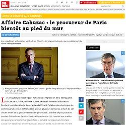Affaire Cahuzac : le procureur de Paris bientôt au pied du mur